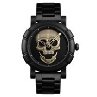 Wholesale pirates watches for sale - Cool punk style Pirate Skeleton Skull Quartz Mens Watches Mesh Steel sports Black Watch Men Relogio Masculino SKMEI