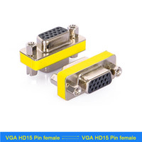 Wholesale gender changer adapter - Top Selling VGA adapters Female to Female VGA HD15 Pin Convert VGA 15PIN F-F Gender Changer Convertor Adapter