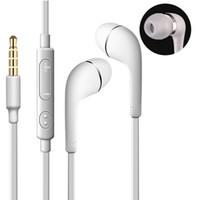ingrosso s3 mp3-A + Auricolari stereo In-Ear da 3,5 mm Auricolari con microfono Cuffie auricolari per il controllo del volume a distanza per Samsung galaxy s3 s4 s5 note 2 4 mp3