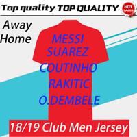 kulüp xxl toptan satış-2019 MESSI Ev Futbol Forması 18/19 # 7 COUTINHO Deplasman Futbol Gömlek # 11 O.