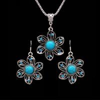 1916405527c9 joya india bohemia al por mayor-Conjuntos de joyas de flores bohemias para  las mujeres