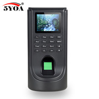 biometrisches fingerabdrucksystem großhandel-Biometrische Fingerprint Access Control Teilnahme Maschine TCP IP Digital Elektrische Reader Scanner Sensor Code System Für Türschloss