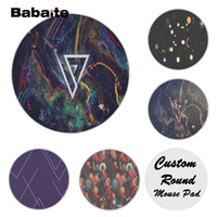 Wholesale geometry games - Babaite Non Slip PC Geometry Silicone Pad to Mouse Game Size for 20x20cm 22x22cm Rubber Round Mousemats