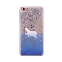 ingrosso porta gli orsi 3d-Moda Hot Cute Dinamico Orso polare Cartoon Pattern Quicksand Liquid Glitter Bling PC 3D Doppio Custodia Cover per iPhone 6 6S 7 8 Plus X