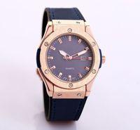 ouro da baía venda por atacado-Reloj Hombre designer de moda homens relógio de couro marca relógios de pulso pulseira de luxo de ouro preto completo bay mens relógios automáticos nova data do dia