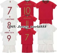 b1977ea27 kids CR 2018 World Cup jersey soccer CR7 Home Away Kits QUARESMA PEPE  J.MOUTINHO ANDRE SILVA J.MARIO BERNARDO Football Shirt