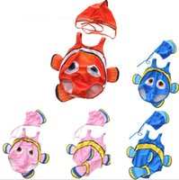 75b16d5fdf5c7 Wholesale 2019 babies swimsuit clown fish newborn baby girls boys swimming  wear with caps toddler infant cartoon fish lovely cute bath suit