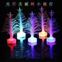 Wholesale xmas tree led lights resale online - DHL LED Christmas Tree Mini christmas tree party decor Color Changing Xmas Home Table Party shiny cm