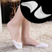 Wholesale heel relief resale online - 1 Pair Silicone Gel Toe Sleeve Comfortable Ballet High Heel Toe Sleeve Pain Relief Protect Foot Care Sleeve T