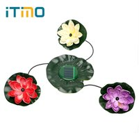Wholesale Pool Decor - ITimo Night Light Waterproof For Pond Pool Garden Floating Flower Light Energy Saving Wireless Lotus Solar Lamp Party Decor