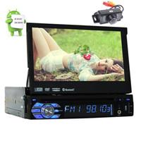 ingrosso av dvd player-Telecamera posteriore inclusa !!! Android 6.0 Stereo 1Din Car DVD Player GPS Audio Radio Unità principale Supporto Wifi OBD Cam-in AV Subwoofer