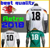 Wholesale Vintage Silk Shirt Xl - 1990 1994 1988 Retro version VINTAGE CLASSIC Soccer Jersey KLINSMANN 18 Matthias 10 home away 2017 2018 shirts JERSEY