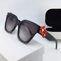 Wholesale Flower Legs - new fashion designer women sunglasses square frame legs with flower simple popular style uv 400 protection wholesale eyewear