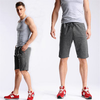 Wholesale Knee Pants For Men - Summer Mens Shorts Sportswear Pants Jogger Tracksuit Sweat Shorts Drawstring Short Pants for Men Plus Size Leisure Gym Short Trousers