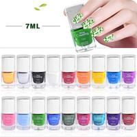 лучшие гелевые краски для ногтей оптовых-Misscheering лучшее предложение 7 мл лак для ногтей штамп Nail Art штамповка лак лак спрей vernis ongle гель для ногтей 18 цветов