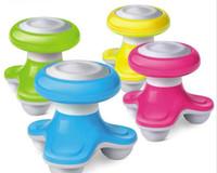 mini vücut vibratörü masajı toptan satış-5 renkler Mini Elektrikli Saplı Dalga Titreşimli Masaj masaj vibratörler Geri Masaj USB Pil Tam Vücut Masajı X080