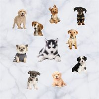 Wholesale tiles wall art for sale - Group buy Home Decor Wall Sticker Simulation Cartoon Animal Dog And Cat Art Waterproof Removable Stickers Pvc Translucent Shader mt jj