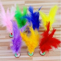 Wholesale big foot toy resale online - Kick Feather Shuttlecocks Child Outdoor Sport Toy Multi Color Chinese Jianzi Foot Sports Toys Hot Sale gh W