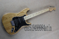 Wholesale Stratocaster Electric - 2018 Free shipping Top Quality Hot New Arrive Stratocaster nature wood Electric Guitar Shipping In Stock