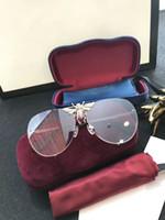 nuevos abrigos de moda al por mayor-Nuevas gafas de sol de diseño 2238 gafas de sol para mujeres, hombres, gafas de sol, mujeres, diseñador, revestimiento, protección UV, remaches de perlas, gafas de sol de moda