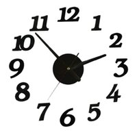 подержанные часы оптовых-Wall Clock Wall Sticker Clock Digital Watch Home Clocks Living Room Sticker Home Decor Easy-to-use Products