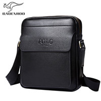 Wholesale Leather Business Bags For Men - Badenroo Genuine Leather Polo Men Shoulder bags Classical Messenger Bag Cross Body Bag Fashion Casual Business Handbags for Men