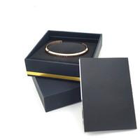 ingrosso i monili regolano i braccialetti-Nuovi bracciali con polsino con cinturino in argento con scatola originale in oro rosa Bracciale in argento con bracciale in acciaio inossidabile