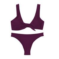 Wholesale newest swimwear - Hot Sale Newest Summer Sexy Bikini 2018 Women Swimwear Bikini Set Beach Swimsuit Fashion Push Up Bathing Suits Vacation Surfing Biquini