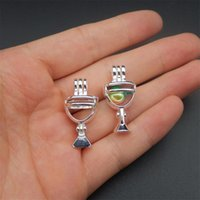 Wholesale glass lockets jewelry making for sale - Group buy In the new style bright silver wine glass pearl cage jewelry making pearl cage pendant essence oil diffusion pearl