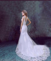 Wholesale free romantic sexy dresses for sale - Group buy 2018 New Wedding Dresses Sexy Women Gowns Romantic Lace Mermaid Net Wedding Dress China Bridal Gowns Simple Sereia