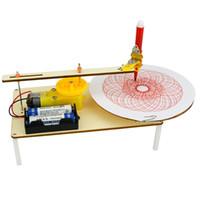 wissenschaft experimente kits großhandel-Kreative DIY Puzzle Montiert Kits Kinder Handgemachte Graffiti Spielzeug Einfache Wissenschaft Gizmo Physik Experiment Ressourcen Elektro-plotter