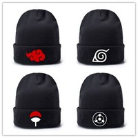Wholesale naruto cosplay anime online - Anime Naruto knit Hat Adult Men Women Adjustable no brim cup Cosplay Coustume Accessories