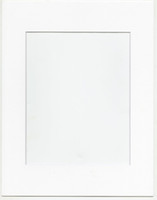Wholesale Photo Box Frames - 12pcs pack 11x14 Solid Color Pre-cut Opening Matboard for Picture Frame- Smooth White for photos or art 8x10 inch