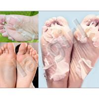 mascarillas de pies al por mayor-1 par pie de bebé peeling renovación máscara de pie quitar la piel muerta suave exfoliante pies cuidado calcetines para pedicura envío gratis