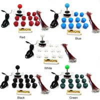 joystick-teile großhandel-Großhandels-DIY Arcade Kits Teile USB-Encoder PC Joystick China Sanwa + 10 MAME PC Tasten FJ88