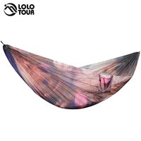 Wholesale Garden Furniture Swings - Custom-Made Outdoor Printing Parachute Hammocks Camping Rede Hanging Sleeping Bed Garden Swing Furniture 2 Person Hangmat