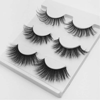 Wholesale artificial lash extensions for sale - Group buy Mix Pairs Natural False Eyelashes Artificial Mink thick long black soft makeup eyelash extension faux lashes