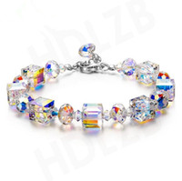 Wholesale Romance Jewelry - Romance Valentine's Day Gift Crystal Bracelet Series SWAROVSKI Element Czech Crystals Charm Bracelets Fashion Jewelry for Women