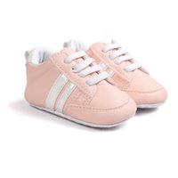 туфли для новорожденных оптовых-розовый цвет горячие продать Детская обувь противоскользящие искусственная кожа обувь мальчик первые ходунки bx301