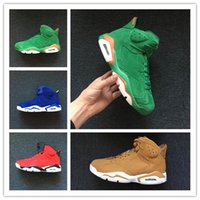 Wholesale pig outdoor - Wholesale 6 VI Green Gatorade blue suede red men basketball shoes sports sneakers trainers trainers outdoor high quality size 7-13