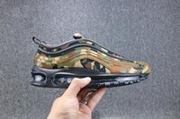 Wholesale Italy Women Leather Shoes - 97 Running Shoes Mens Women Blue Premium Qs OG Camo Italy Germany Country Cristiano Ronaldo Portugal Patchwork Athletic 97s Shoe Sneakers