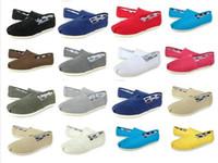 men canvas loafer großhandel-freies Verschiffen 2018 HEISSE beiläufige Schuhe Frauen / Männer Klassiker TOM MRS Loafers Canvas Slip-On Wohnungen Schuhe Faule Schuhe Größe 35-45