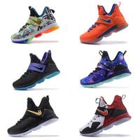 Wholesale Cut Fingers - Wholesale Cheap 2017 LeBRon 14 James Top Quailty wholesale lebron shoes Arrival LBJ XIV Sneakers 14s High Cut Mens Shoes