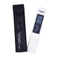 probador medidor tds al por mayor-Medidor de TDS Tester Pen EC Medidor de conductividad Medidor de agua Herramienta de medición TSDEC Herramienta de la pluma del medidor de herramienta 3 en 1 tds EC