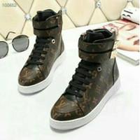 kahverengi kama çizme kadın toptan satış-vvtisks5 SNEAKER BROWN KANAL YÜKSEK ÜST ÜST KADEMELİ BÜYÜK KADIN AYAKKABI KADIN Bayan Ayakkabı Pompaları Loafer'lar Balerin Daireleri Espadrilles Takozlar Sneakers Boots