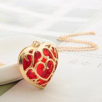 anahtarlık kalp kolye toptan satış-Zelda Hollow Kalp Kolye Charm Kolye Severler Çift Bayan Kolye Moda Anahtarlık Anahtarlık Tasarımcı Kadın Kolye