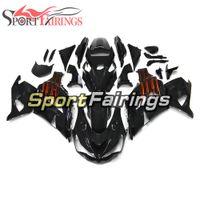 ingrosso zx14 carenatura nero-Iniezione Carrozzeria completo per Kawasaki Ninja ZX14R ZZR1400 2012 - 2015 12 13 14 15 Carrozzeria ABS Plastica lucido Nero Carenatura arancione