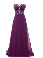 Wholesale wedding dresses under 100 for sale - 2018 Elegant Purple Chiffon Ruffles Long Bridesmaid Dresses Floor Length Lace up Back Beading Sweetheart Wedding Maid of Honor Gowns Formal