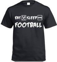 football presents UK - Eat Sleep Football Cars T-Shirt Funny soccer Gift Present