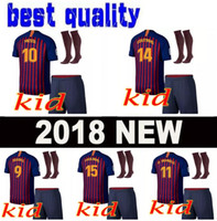 Wholesale new arrival shorts - new 2019 Kids football shirt 2018 2019 soccer jesrey 18 19 child Camisa de futebol new arrival 18 19 Camiseta de futbol maillot de foot
